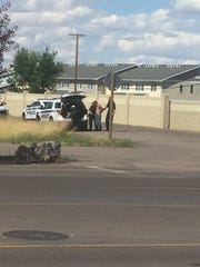 Great Falls police appeared to have a suspect detained near the Malmstrom Air Force Base gate Tuesday afternoon. The base briefly went into lockdown around 3:20 p.m.