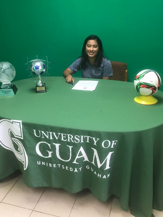 Tara Usita-Lee signed a letter of intent to play soccer at the University of Guam for the upcoming school year