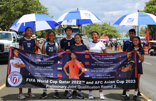 Players from various Guam youth national training squads and coaches march in the 75th Annual Liberation Day Parade as part this year's Kåmp Tinituhon. The GFA Technical Department plans to expand the induction camp's offerings following the success of its inaugural edition.