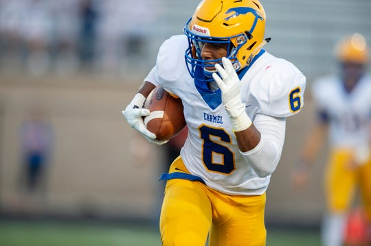Carmel's Christian Williams provides the Greyhounds a playmaker at running back.