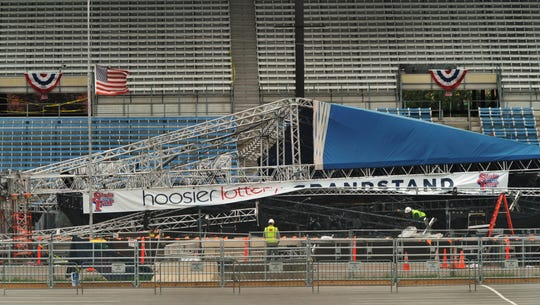 Seven people were killed and about 100 were hurt when high winds toppled rigging and sent the roof of the stage onto fans awaiting the start of a concert at the State Fairgrounds in 2011.