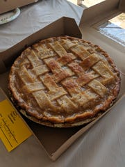 "This Sailor Jerry's Tipsy Peach Pie, baked by Emily Goldsmith, took home the win for ""best name"" at the Johnson County Fair"