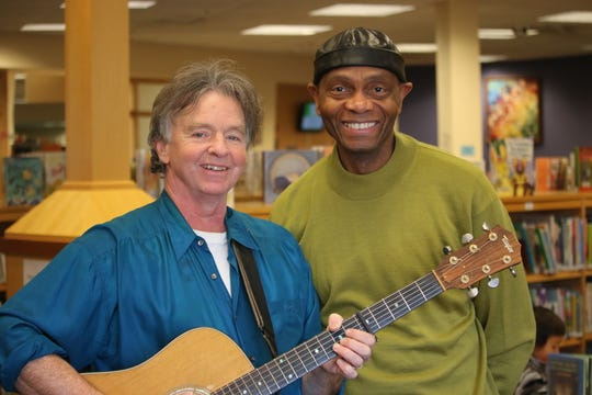 "On Thursday, local storytellers John Simon and Cal Walker will present ""Sing Me a Story! Read Me a Song"" at the Tompkins County Public Library."