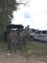 About 100 officers from multiple agencies responded to Wayne County on Thursday, Aug. 8, 2019, after a man threatened to kill his neighbors and law enforcement and barricaded himself inside his home. The standoff and subsequent manhunt lasted 32 hours.