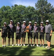 The Germantown boys golf team won the 2018-19 5A golf state championship.