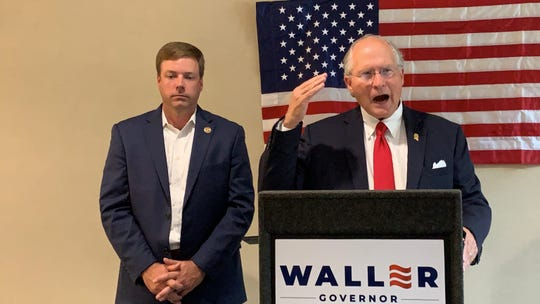 Mississippi gubernatorial candidate Bill Waller talks about Medicaid reform at Hattiesburg Clinic after former candidate Robert Foster announces his endorsement of Waller on Tuesday, Aug. 13, 2019.