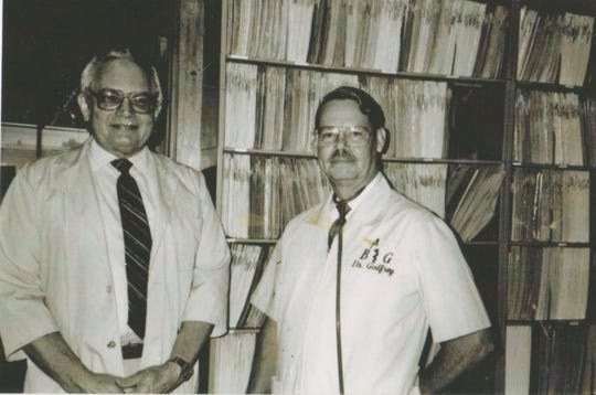 Drs. William Byrd, left, and Carl Godfrey co-founded B&G Pediatrics in East Knoxville, pioneering a drive-up office.