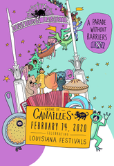 Lafayette's only walking krewe announced its theme, Louisiana Festivals, and date, Feb. 14th, for 2020 Mardi Gras. The public is welcome to join and make their own sub-krewes.