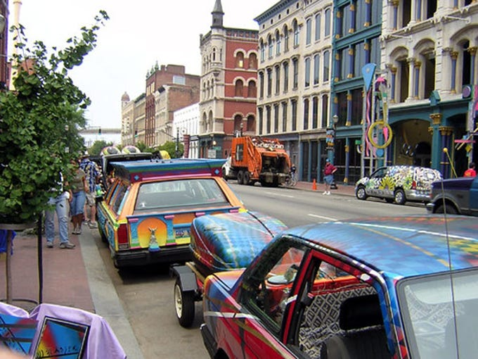 The Kentucky Art Car weekend festival was held on 4th St. for 10 years. The last gathering was in 2011.