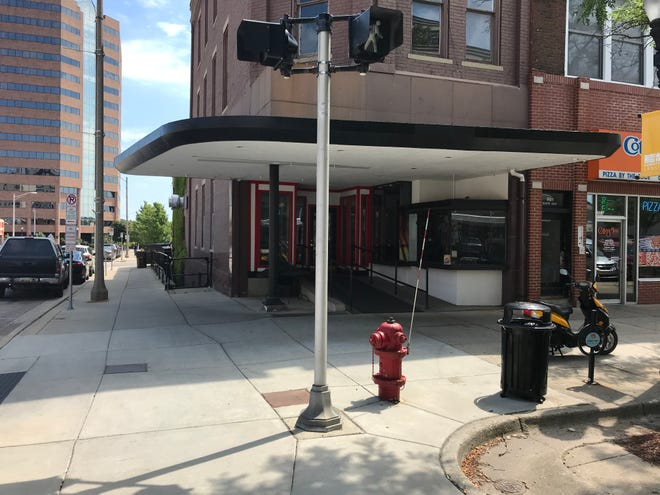 A look at the former Backyard Bar-B-Q building at 301 S. Washington Square in downtown Lansing.