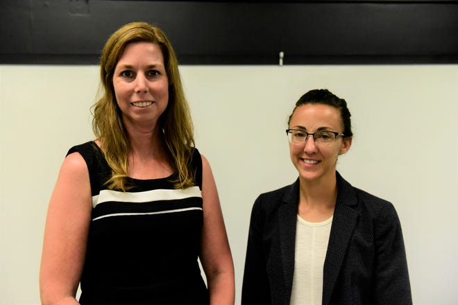 Amanda Mahon, left, is the district's new ninth-grade principal, and Tara Strang, right, is the new assistant principal at Malabar Intermediate.