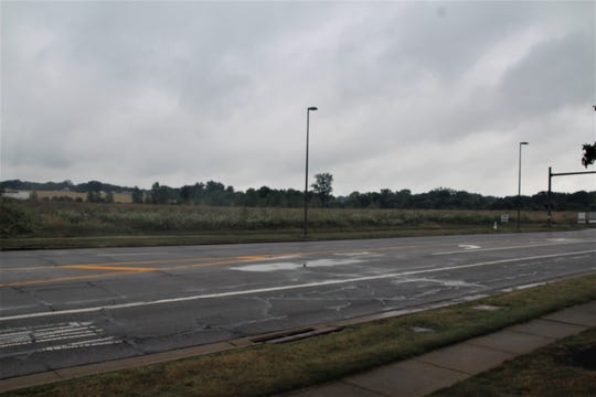 The site along McMahan Boulevard where a hotel is proposed to be constructed.