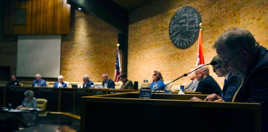 Germantown Board of Mayor and Aldermen meeting officials at Germantown City Hall on August 12, 2019.