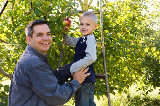 Families can pick their own apples at The Elegant Farmer in Mukwonago.