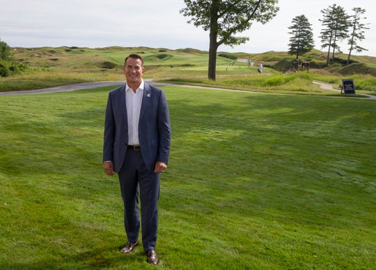 David Kohler, president and CEO of Kohler Co. and general chair of the 2020 Ryder Cup, poses for a portrait on The Straits at Whistling Straits Golf Course in Sheboygan.