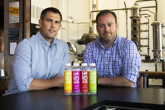 Pat McQuillan and Evan Hughes of Central Standard Distillery will introduce Hard2O, an alcoholic flavored vodka water.