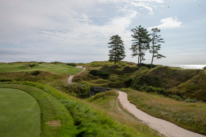 The 10th hole of The Straits at Whistling Straits Golf Course.