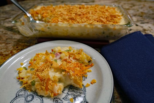 Crispy, creamy, sweet and savory, this potato casserole could even be a main dish.