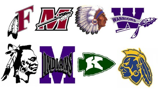 About 31 school districts in Wisconsin still use Native American imagery for their team names, mascots and logos. These are a few of the logos past and present.