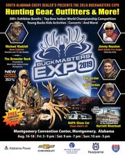 Buckmasters Expo returns to downtown Montgomery on Friday, Saturday and Sunday.