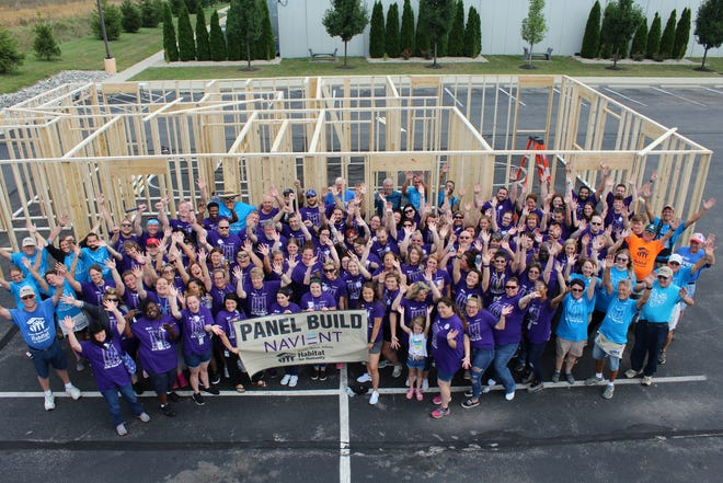 Muncie Habitat for Humanity partnered with Navient for the annual panel build event on Aug. 6.