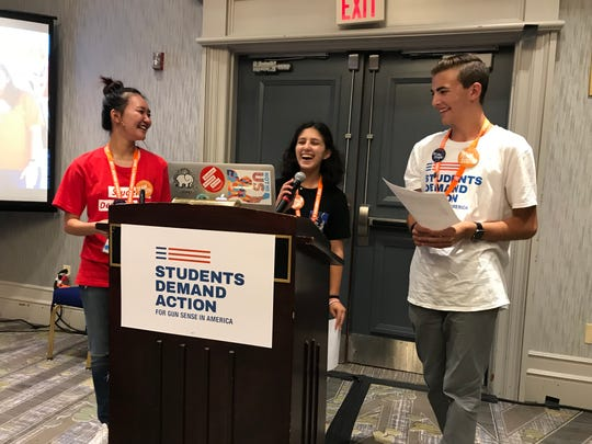 Isabella Reish stands with other teens during Gun Sense University 2019 in Washington, D.C. The workshop empowered leaders to speak out against gun violence.