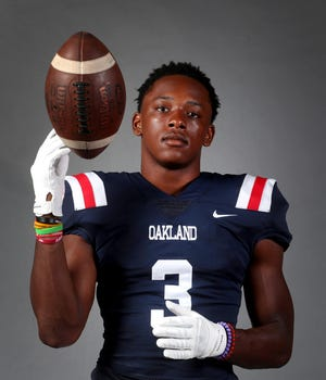 Oakland's (Tennessee) Aaron Moore poses for a portrait on Saturday Aug. 10, 2019. Moore signed with Colorado State on Wednesday.