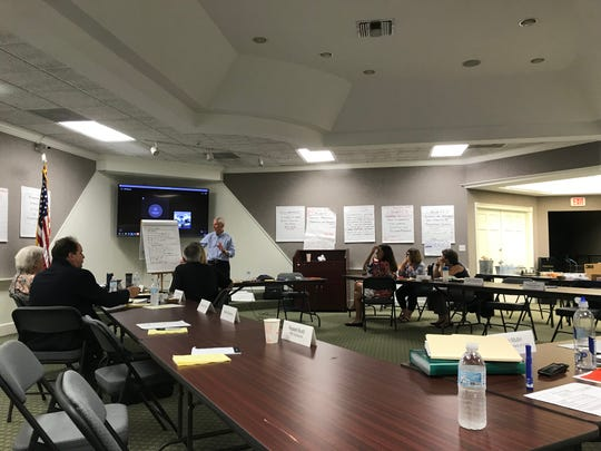 Collier County's mental health and addiction ad hoc advisory committee meets Tuesday, Aug. 13, 2019 at the Collier Museum near the county's government complex.