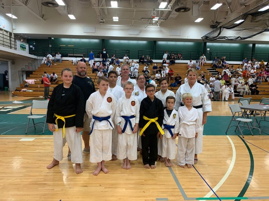 Three youth students from Annarino's Martial Arts each won a pair of gold medals during the AKJU Karate Nationals.