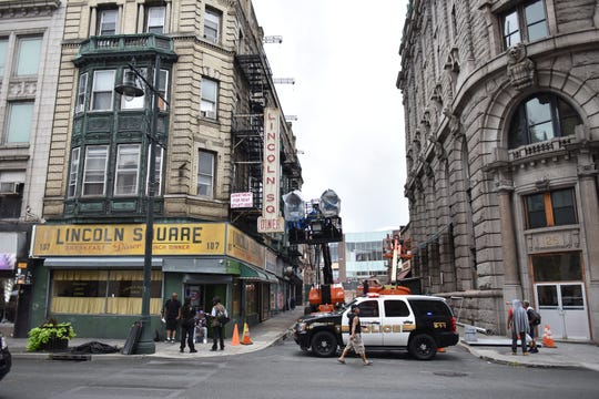 Downtown Paterson is getting a makeover for the filming of Westside Story on Tuesday Aug. 13, 2019 in Paterson, N.J.