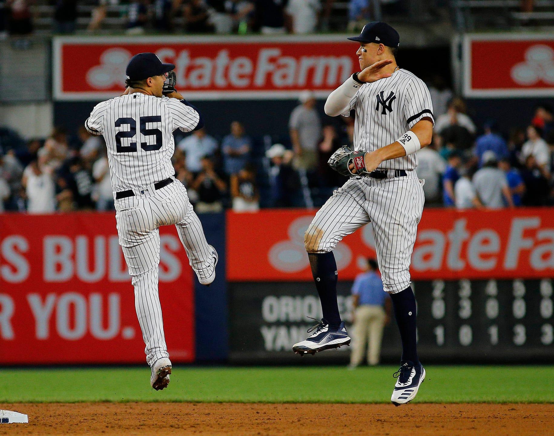 huge selection of c9755 95ba3 New York Yankees sweep Orioles behind Gleyber Torres' home runs