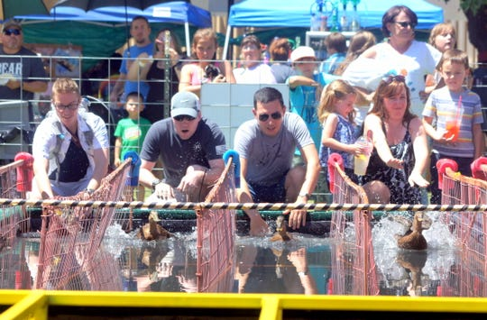 Duck racing on a wet track makes sense - like a duck to water.  The 40th annual Great American Duck Race weekend is Aug. 22-25 in Deming, NM.