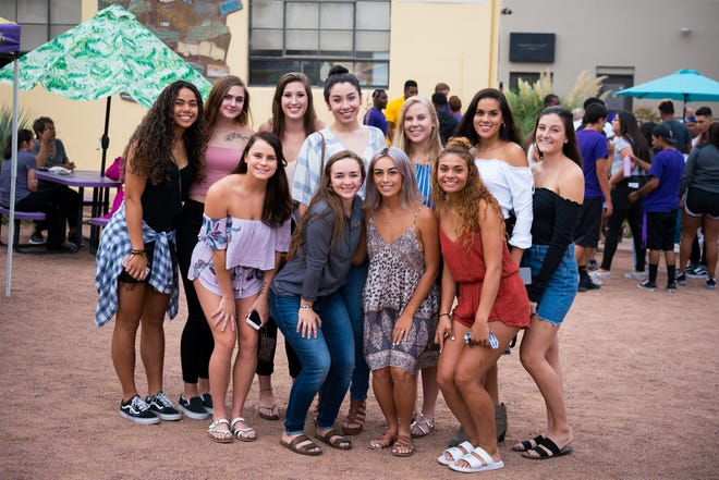 Western New Mexico University students gather at a previous Welcome Back Bash.