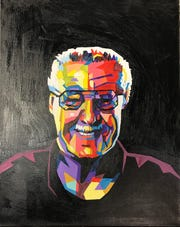 """""""In Memory of Stan Lee"""" by Trinity Juan of Gallup High School is included in a show this weekend at the Encaustic Art Institute during the Santa Fe Indian Market."""