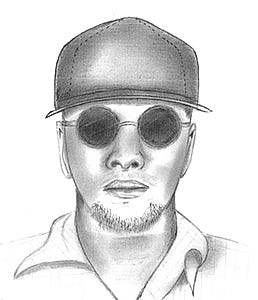 The Riverside County Sheriff's Department said the bank robbery suspect is a 5-foot-4 man weighing roughly 170 pounds. He wore  a burgundy cap and a blue multi-colored long sleeved shirt with dark pants.