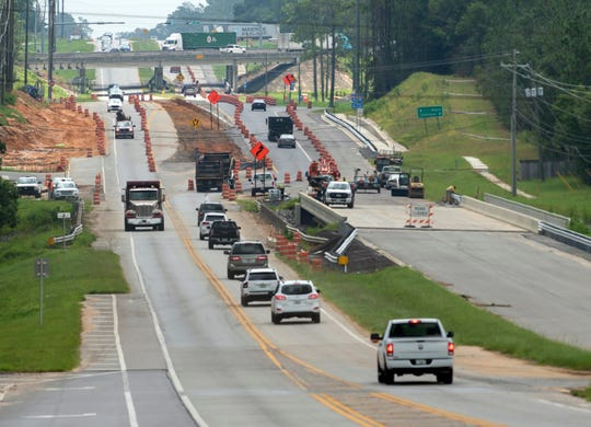 Traffic flows smoothly along Beulah Road in Escambia County on Aug. 13.