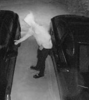 The Gulf Breeze Police Department released photos of a suspected vehicle burglar via social media Tuesday.