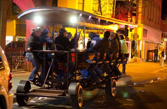 The Alpine Pedaler is a rolling party roaming the streets of downtown Flagstaff and stopping at popular watering holes.