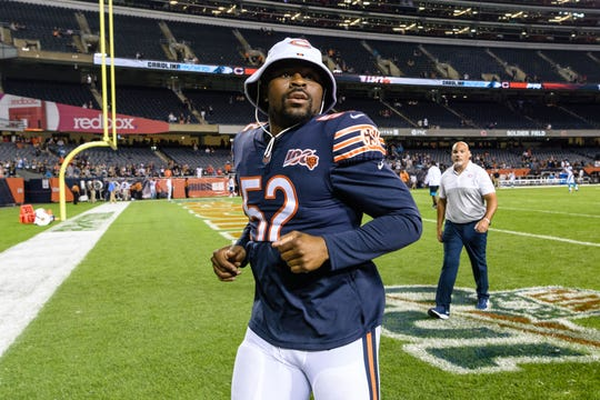 Chicago Bears linebacker Khalil Mack is the highest paid linebacker in the NFL.