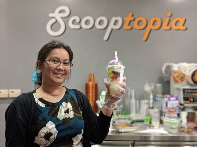 Scooptopia ice cream shop in Uptown Phoenix offers halo-halo, a shaved ice dessert popular in the Philippines.