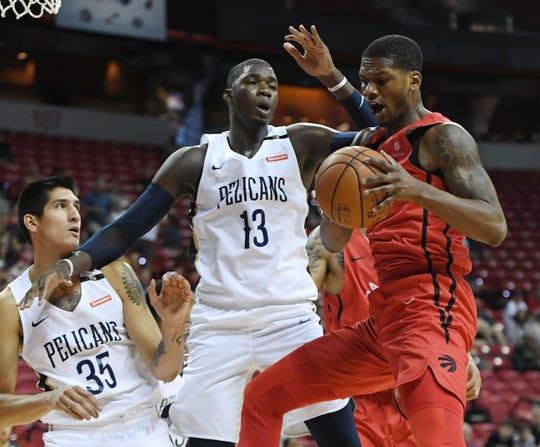 Los campeones Raptors de Toronto se medirán a los Pelícanos de Nueva Orleáns, en otro de los juegos de apertura.
