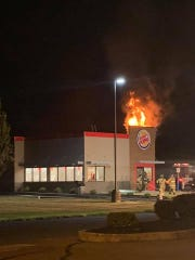 A Lebanon County Burger King was damaged during a fire Monday night.