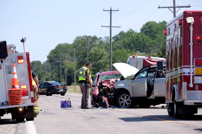 A traffic crash about 12:30 p.m. Tuesday has closed Metcalf Road on the border of Fort Gratiot and Burtchville townships.
