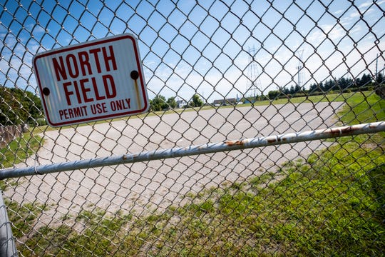 The north ball field at Morton Park in Marysville is being turned into a public dog park. It will have two areas, one for small dogs and one for bigger dogs.