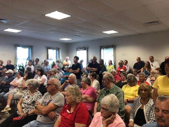 A crowd of over 100 residents came to Monday night's New Freedom Borough Council meeting to support the South Central York County Senior Center.