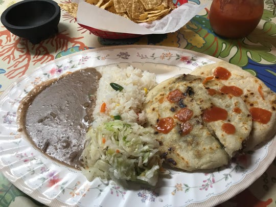 Pupusas, the corn or rice flour tortilla pockets filled with various ingredients, are a Salvadorian national dish and a specialty at El Salvador restaurant in Midtown Reno.