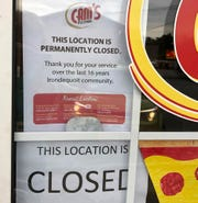The Cam's Pizzeria at 717 Titus Ave. in Irondequoit has closed.
