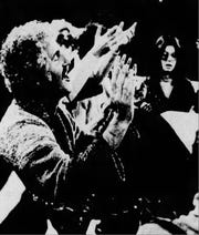Rev. David Simon in church, 1977