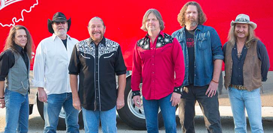 The Marshall Tucker Band will play its southern-rock hits at the Cowboy Coast Saloon in Ocean City on Thursday, Aug. 22.