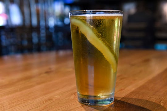 Pickle beer: The famous South Dakota Martini -- beer paired with a pickle spear.